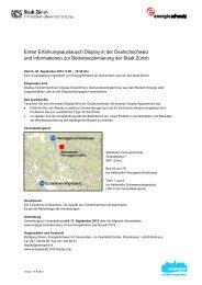 Erster Erfahrungsaustausch Display in der Deutschschweiz und ...