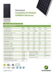 CHSM5612M Series Datasheet Crystalline PV Module - Activity Solar