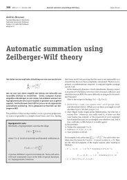 Automatic summation using Zeilberger-Wilf theory - Nieuw Archief ...