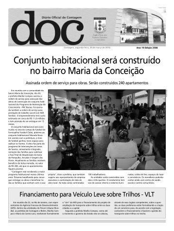 Diário Oficial Nº 2508 - Prefeitura de Contagem