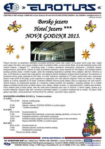 Borsko jezero Hotel Jezero *** NOVA GODINA 2013. - Euroturs