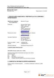 FISA TEHNICA DE SECURITATE Mikrozid AF ... - Doriot Dent (Ro)