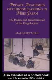 Private Academies of Chinese Learning in Meiji Japan: The Decline ...