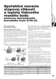 Spo¾ahlivé meranie stopovej vlhkosti a teploty ... - ATP Journal