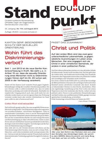 Christ und Politik - EDU Schweiz