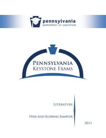 Literature Item and Scoring Sampler 2011