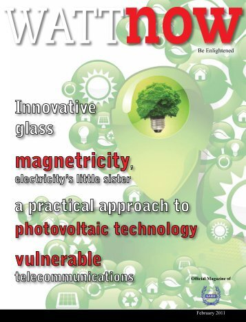 download a PDF of the full February 2011 issue - Watt Now Magazine