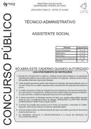 Assistente Social - Vestibular UFG
