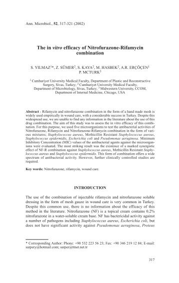 Antibacterial Effect of some Mineral Clays In Vitro - Egyptian ...