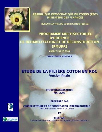 ÉTUDE DE LA FILIÈRE COTON EN RDC Version finale - ACP Cotton