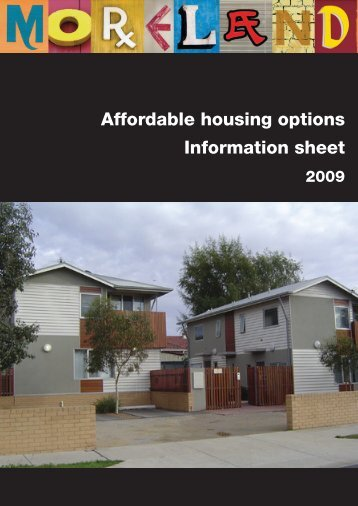 Affordable housing options Information sheet - Victorian Local ...