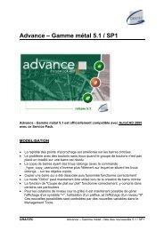 Advance – Gamme métal 5.1 / SP1 - GRAITEC Info