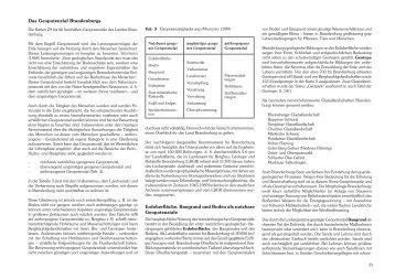 Das Geopotenzial Brandenburgs Erdoberfläche, Baugrund und ...