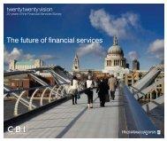The future of financial services - CBI