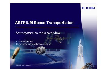 ASTRIUM Space Transportation Astrodynamics tools ... - ESA