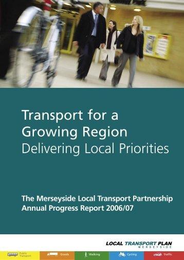 Annual Progress Report 2006/07 - the TravelWise Merseyside website