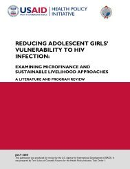 Reducing Adolescent Girls' Vulnerability to HIV Infection: Examining