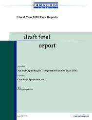 draft final report - Metropolitan Washington Council of Governments