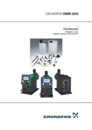 Ceník Grundfos 2012 CZ - Dávkování