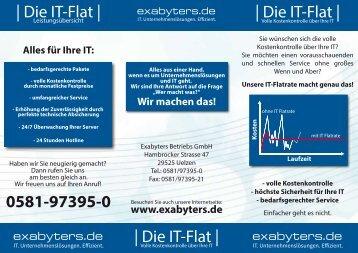 Klicken Sie hier für unseren IT Flatrate Flyer als PDF