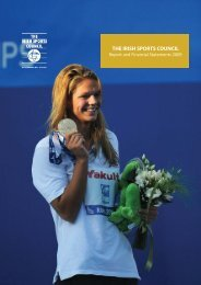 The irish sports council report and financial statements 2009