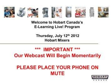 Vertical Cutter Mixer - Hobart Canada