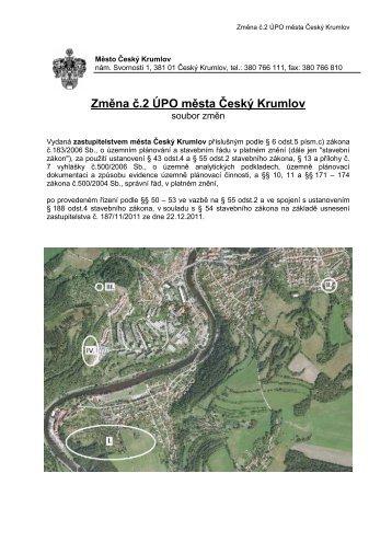 Opatření obecné povahy - Český Krumlov