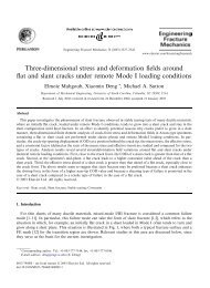 Three-dimensional stress and deformation fields around flat and ...