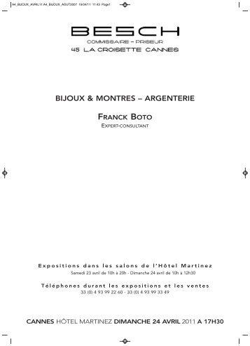 BIJOUX & MONTRES – ARGENTERIE - Besch Cannes Auction