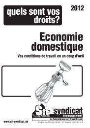 Economie domestique - Syndicat interprofessionnel de travailleuses ...
