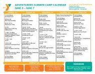 adventurers summer camp calendar june 3 - YMCA of San Francisco