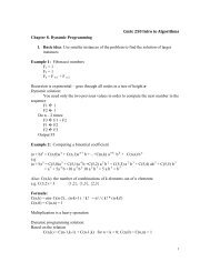 CmSc 250 Intro to Algorithms Chapter 8. Dynamic Programming 1 ...