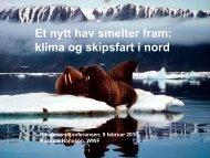 Et nytt hav smelter fram: klima og skipsfart i nord - WWF