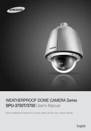 WEATHERPROOF DOME CAMERA Series SPU ... - Samsung CCTV