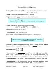 Ordinary Differential Equations (ODE)
