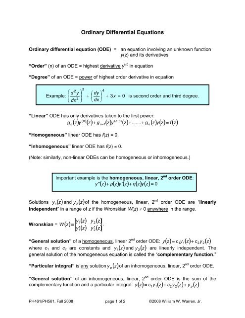 Solve linear differential equation mathematica