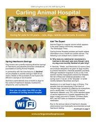 CAH Newsletter Spring 2013.pdf - Carling Animal Hospital