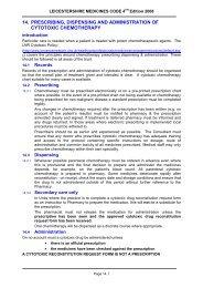 14. prescribing, dispensing and administration of cytotoxic ...
