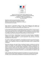 Discours de François Lamy - Délégation interministérielle à la ville