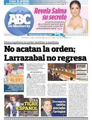 No acatan la orden; Larrazabal no regresa - Periodicoabc.mx