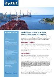 Skyddad forskning hos SSPA med brandväggar från ZyXEL