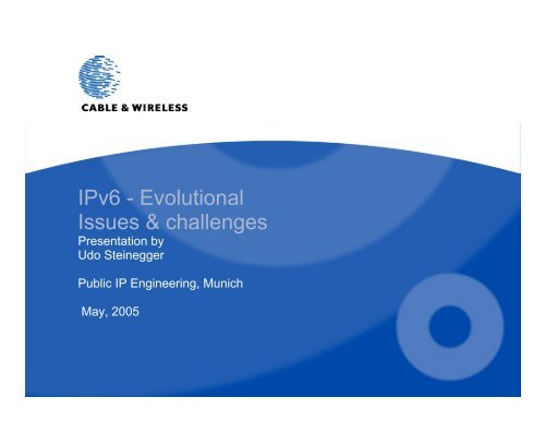 IPv6 - Evolutional Issues & challenges