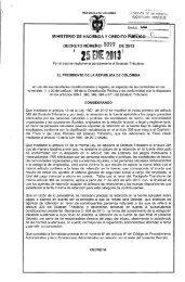 Decreto 0099 de 2013 - Ministerio de Hacienda y Crédito Público