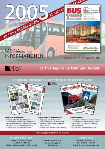 MEDIA INFORMATIONEN - Kirschbaum Verlag Gmbh
