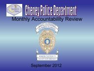 Cheney Police Department - City of Cheney