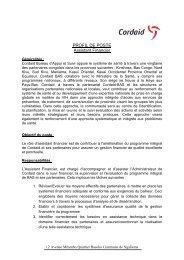 PROFIL DE POSTE Assistant Financier - caritasdev.cd