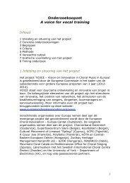 Onderzoeksopzet A voice for vocal training - Koor & Stem