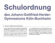 Schulordnung - Johann-Gottfried-Herder-Gymnasium