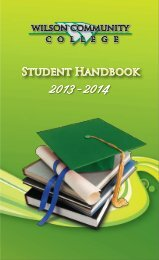 Student Handbook - Wilson Community College