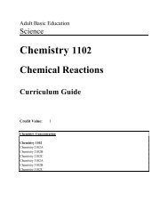 Chemistry 1102 Curriculum Guide 2005-06